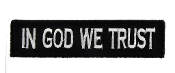 In God We Trust 1 x 4 - Black and White