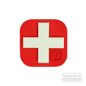 Vanquest Medical Cross Glow-In-The-Dark Patch RED