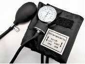 Basic Series Aneroid Sphygmomanometer, Black Nylon Cuff, LA