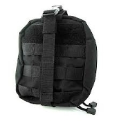 Black Rip-Away First Aid Pouch Large Molle