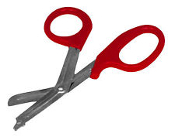 Red EMT Scissors