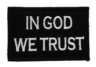 In God We Trust Black and White