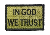 In God We Trust Green and Black