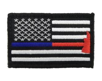 Police & Firefighter Axe Thin Blue & Red Line