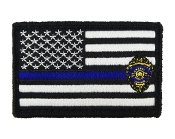 USA American Thin Blue Line Badge Police Flag