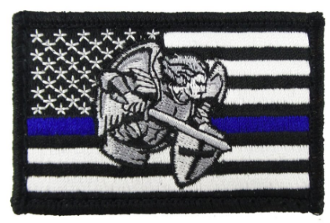 USA American Thin Blue Line Saint Michael Police Flag