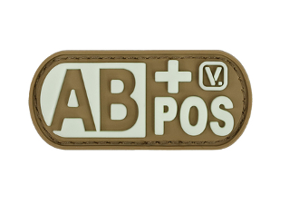 Blood Type AB+ Positive - Glow-In-The-Dark Patch