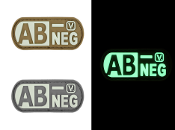 Blood Type AB- Negative - Glow-In-The-Dark Patch