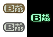 Blood Type B+ Positive - Glow-In-The-Dark Patch