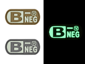 Blood Type B- Negative - Glow-In-The-Dark Patch