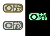 Blood Type O+ Positive - Glow-In-The-Dark Patch