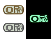 Blood Type O- Negative - Glow-In-The-Dark Patch