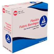 "Adhesive Fabric Bandages Sterile - 3/4"" x 3"""