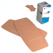 "Adhesive Fabric Bandages Sterile - 2"" x 4 1/2"""
